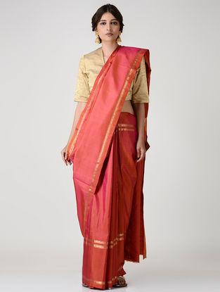 Coral Kanjivaram Silk Saree