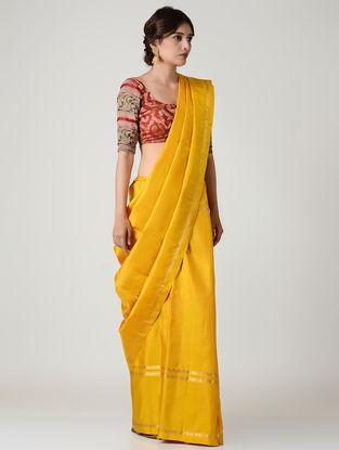 Yellow Kanjivaram Silk Saree