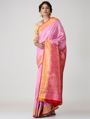 Pink Kanjivaram Silk Saree
