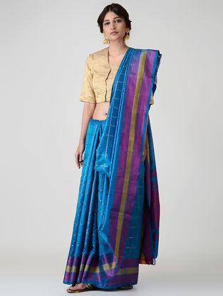 Blue-Pink Kanjivaram Silk Saree