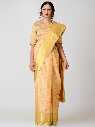 Beige Kanjivaram Silk Saree