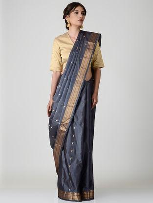 Grey Kanjivaram Silk Saree