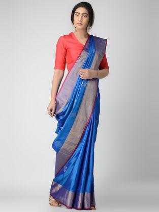 Blue Uppada Silk Saree with Nilambari Motif