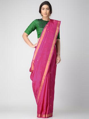 Pink Uppada Silk Saree with Zari