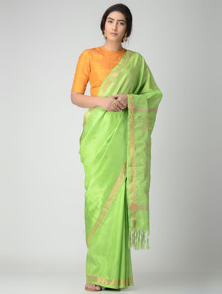Green Uppada Silk Saree with Zari