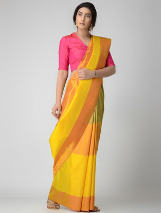 Yellow-Orange Uppada Silk Saree