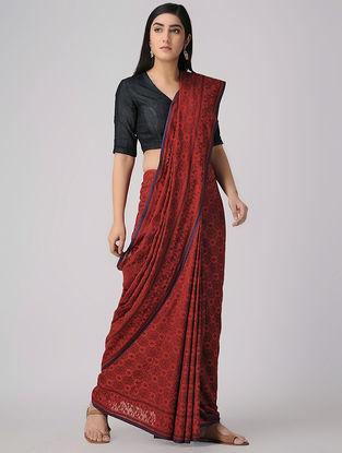 Red-Black Cotton Cut-work Jamdani Saree