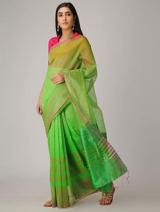 Green Linen Silk Saree