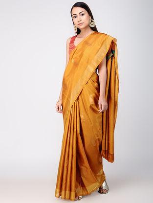 Mustard Kanjivaram Silk Saree