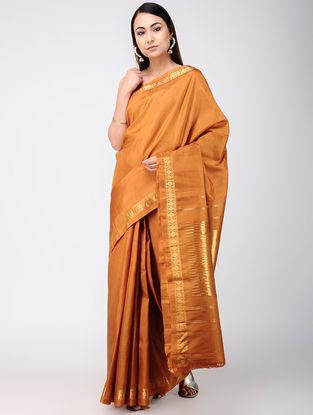 Brown Kanjivaram Silk Saree