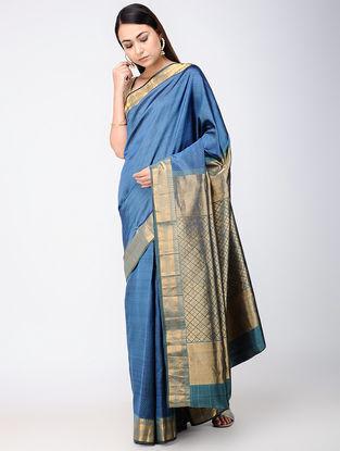 Blue Kanjivaram Silk Saree
