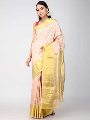 Ivory Kanjivaram Silk Saree