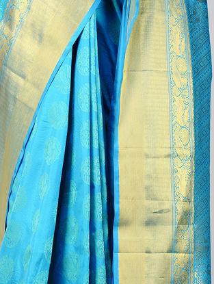 Turquoise Kanjivaram Silk Saree