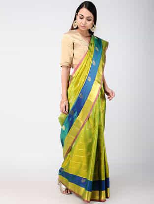 Green-Blue Kanjivaram Silk Saree