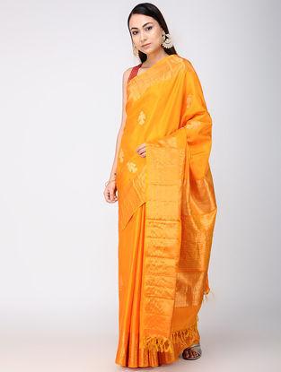 Orange Kanjivaram Silk Saree
