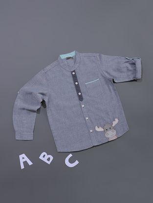 Blue Chambray Cotton Shirt