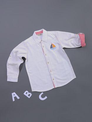 White Chambray Cotton Shirt