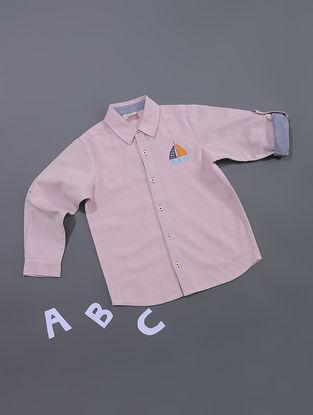 Pink Chambray Cotton Shirt