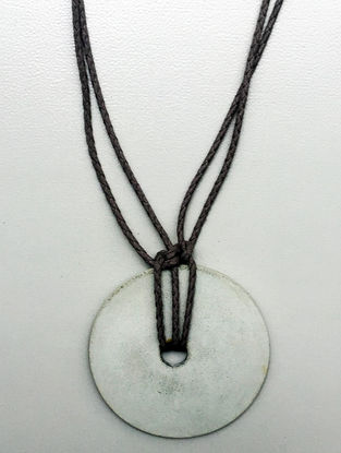 Black Handcrafted Concrete And Thread Necklace
