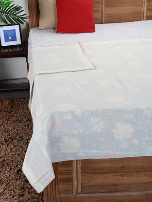 Multicolored Hand Block-printed Reversible Cotton Doubel Dohar (108in x 88in)
