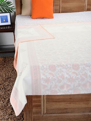 Multicolored Hand Block-printed Reversible Cotton Doubel Dohar (110in x 88in)
