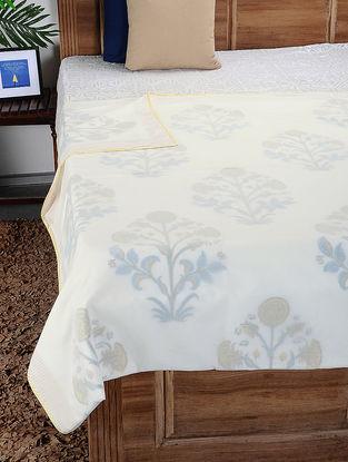 Multicolored Hand Block-printed Reversible Cotton Doubel Dohar (110in x 86in)