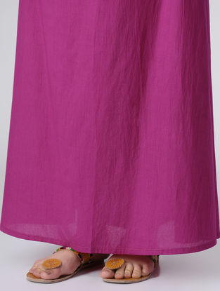 Pink Dyed Elasticated Waist Cotton Skirt