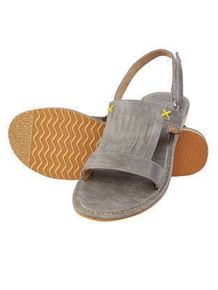 Grey Handcrafted Sandals
