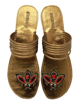 Copper-Red Handcrafted Metallic Flats