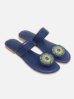 Blue Handcrafted Flats
