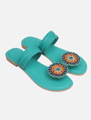 Aqua Handcrafted Flats