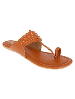 Brown Handcrafted Kolhapuri