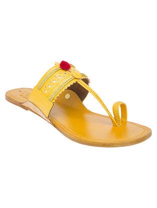 Yellow Handcrafted Kolhapuri