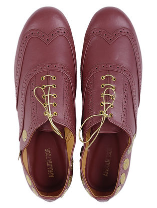 Maroon Leather Shoes