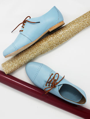 Turquoise Handcrafted Leather Shoes