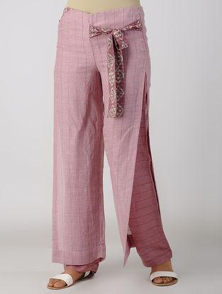 Pink Block-printed Bemberg Linen Pants