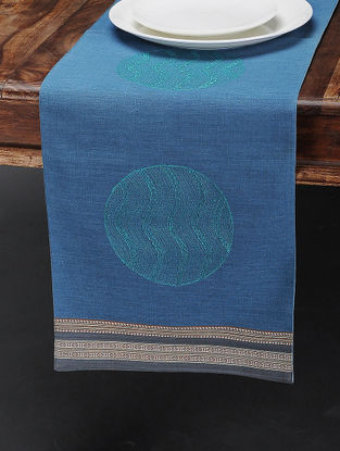 Indigo Cotton Table Runner (44in x 11.6in)