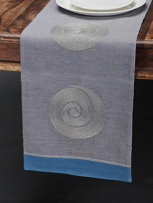 Mauve Cotton Table Runner (43in x 11.5in)