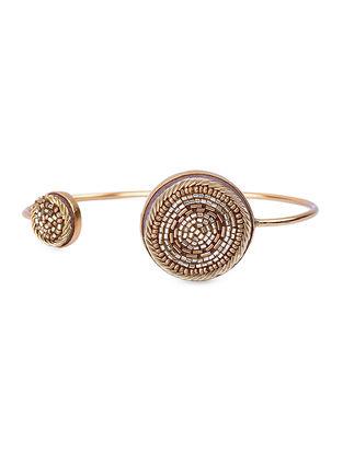 Golden Beads Gold-plated Brass Adjustable Bracelet