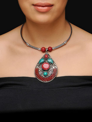 Red-Turquoise Choker
