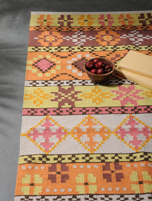 Multicolored Hand Woven Cotton Floor Rugs (6ft x 3ft)