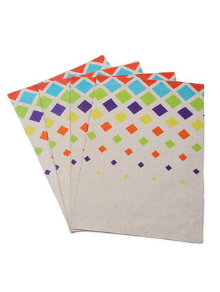 Multicolored Printed Cotton Placemats (Set of 4)