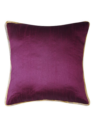 Purple Dupion Silk Cushion Cover (16in x 16in)
