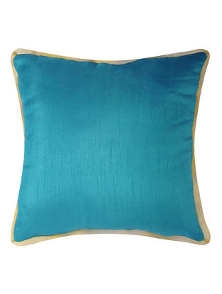 Turquoise Dupion Silk Cushion Cover (16in x 16in)