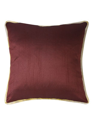 Wine Dupion Silk Cushion Cover (16in x 16in)