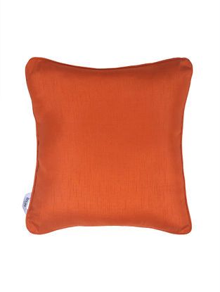 Orange Polyester Cushion Cover (16in x 16in)