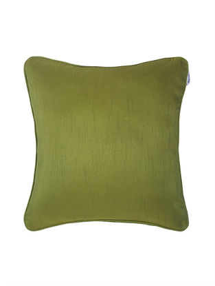 Green Polyester Cushion Cover (16in x 16in)