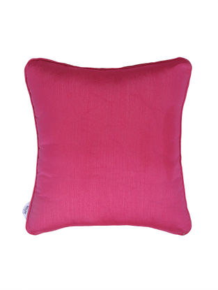 Fuchsia Polyester Cushion Cover (16in x 16in)