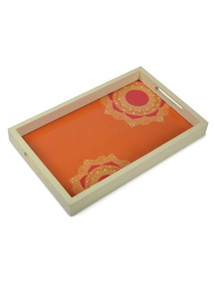 Chakra Madhubani Art Tray-Rectangle
