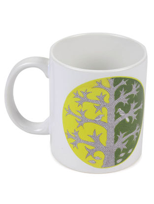 4 Seasons Gond Art Mug-Summer
